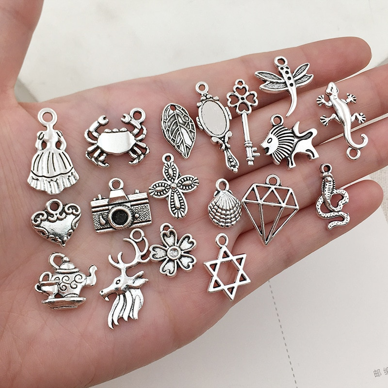 Details about  /50x Refurbished Vintage Bud Charms for Jewelry Tribal Designs and Costuming